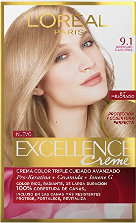 Loreal - 3 xl oreal excellence creme 9.1 rubio chiarissimo colorazione tinte cabello