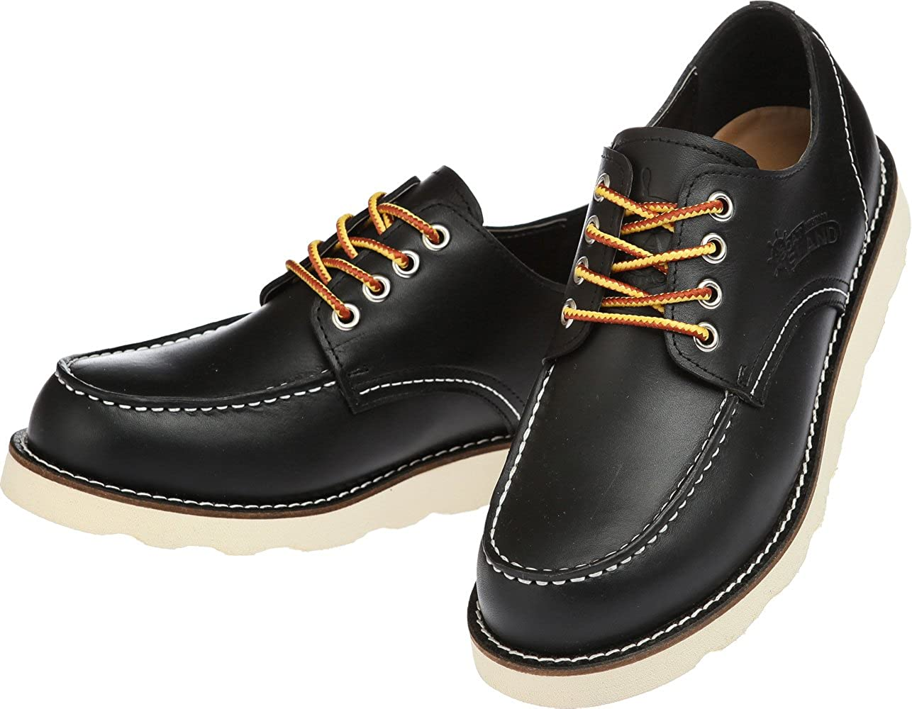 Boat Island Heritage Men Original Classic Leather Dress D Shoes Boots Chukka Slip On Dark Brown