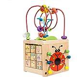 ビーズコースター ルーピング おもちゃ アクティビティキューブ BATTOP 子ども 知育玩具 木製 マルチプレイセット