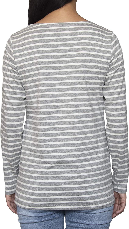 Smallshow Maglietta Allattamento Maniche Lunghe Donna Gravidanza T-Shirt