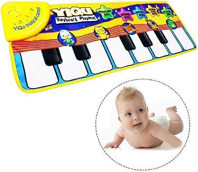 Itian Musical Alfombra Bebé Niño Pequeño Actividad Juego De Gimnasio Colchonetas,Alfombra de Música para Bebé,Bebé Estera de Piano de los Juguetes ...