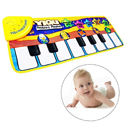 Itian Children's Multi-function Music Game Carpet Mat Child Baby Musical  Instrument Toys Touch Play Keyboard Funny Toy For Kids