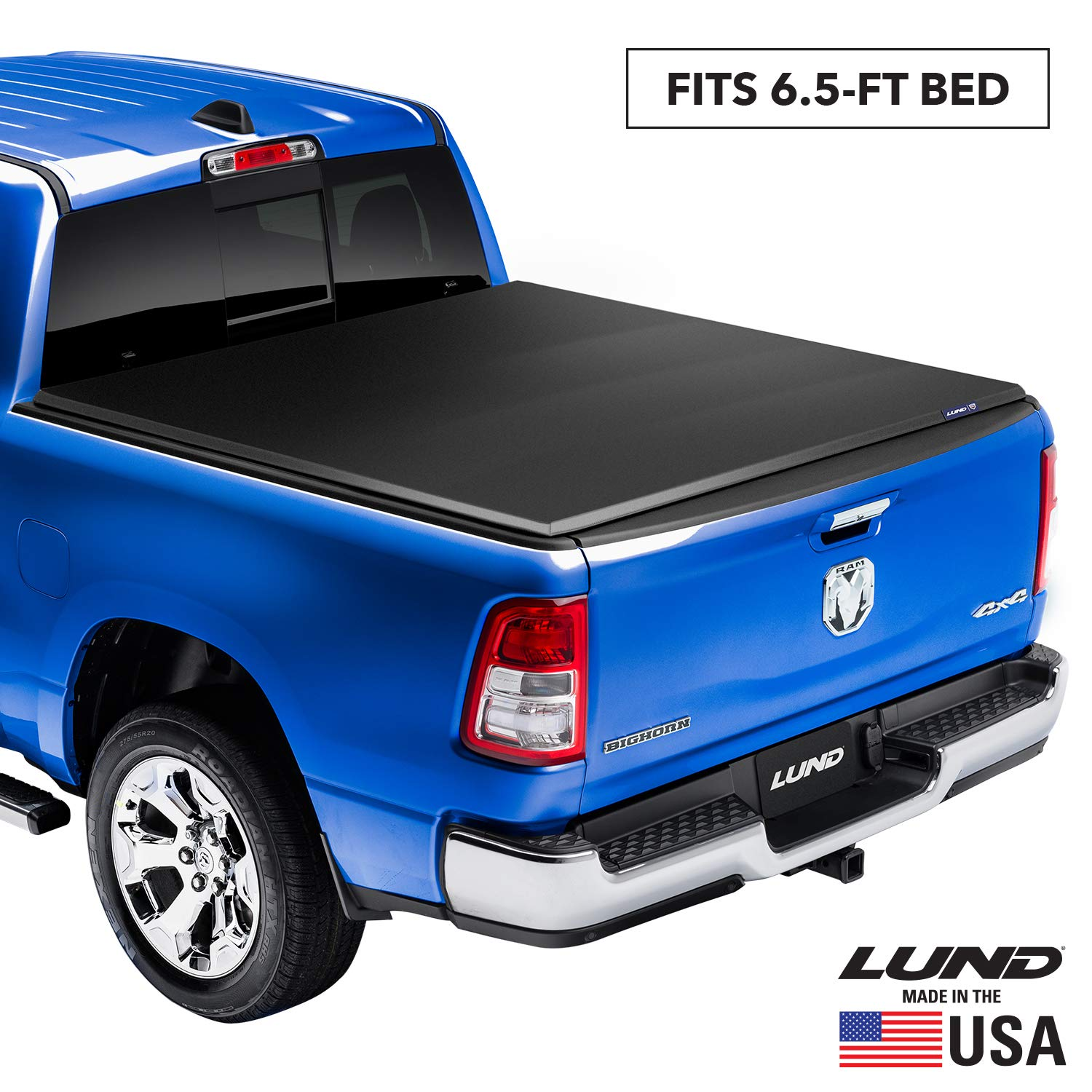 """Lund Genesis Elite Tri-Fold Soft Folding Truck Bed Tonneau Cover 