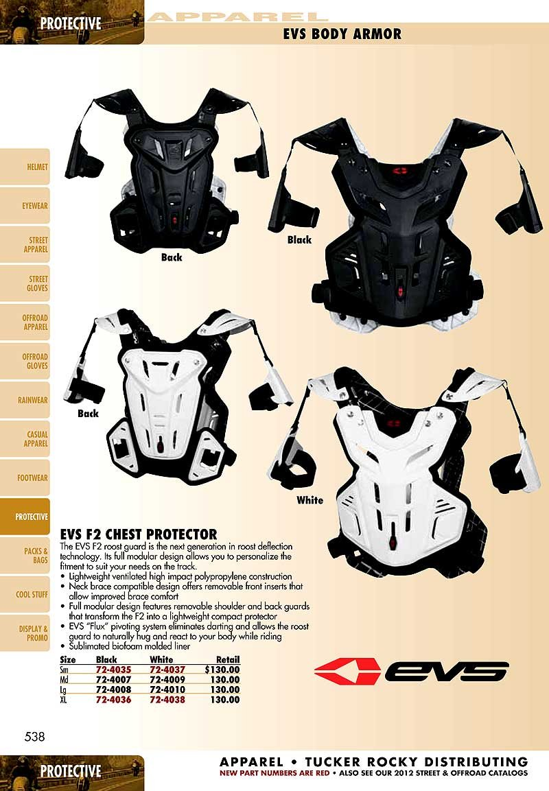 EVS Sports F2BK-XL F2 Chest Protector by EVS Sports