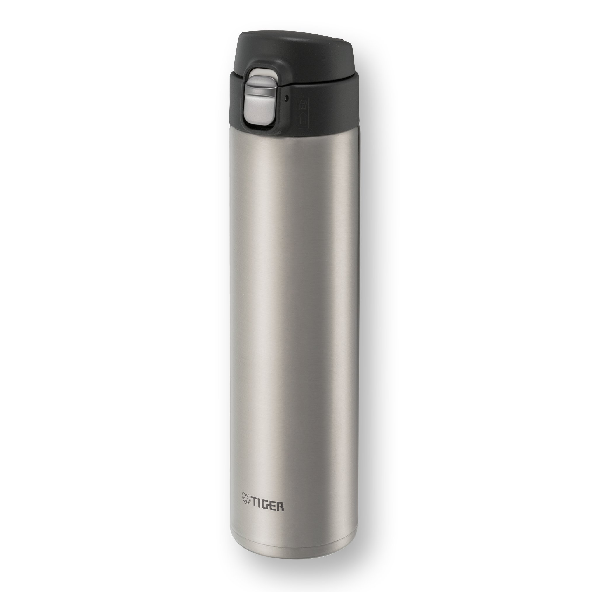 Tiger MMJ-A060 XC Vacuum Insulated Stainless Steel Travel Mug with Flip Open Lid, Double Wall, 20 Oz, Silver