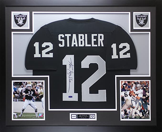 best website 45538 704d7 Ken Stabler Autographed Black Raiders Jersey - Beautifully ...