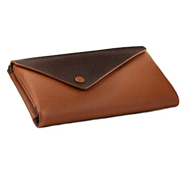 Otto Angelino Genuine Leather Envelope Wallet with Phone Compatible Slots -  RFID Blocking - Unisex