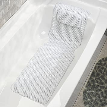 Luxury Cushioned Rest Releaxing Aid Comfort Spa Bath Mat with Integral Pillow