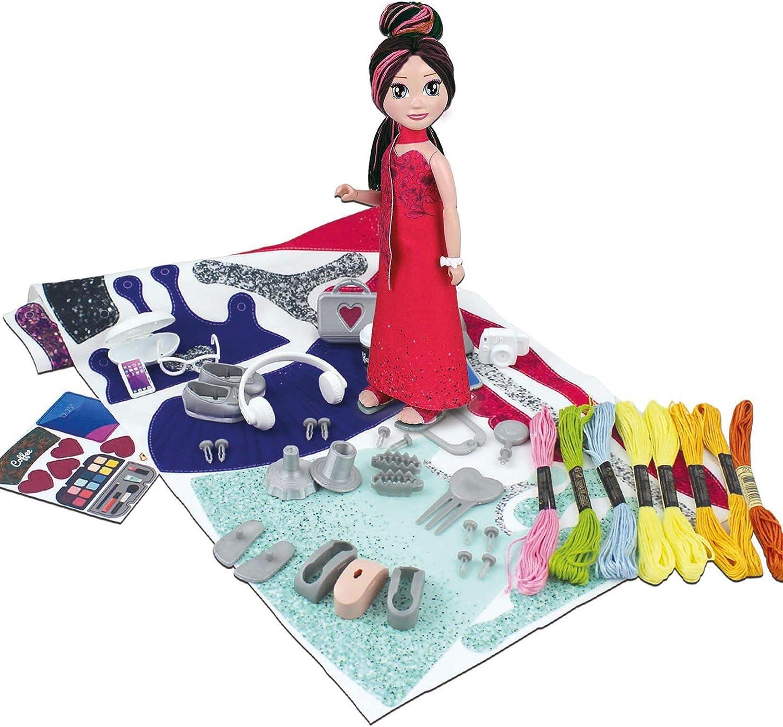 Educa- My Model Doll Design Glam CREA y dise/ña tu mu/ñeca A Partir de 6 a/ños Incluye m/ás de 150 Looks 18367