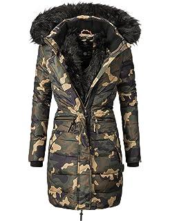 Navahoo Damen Winter Mantel Steppmantel Paula (vegan hergestellt) 11 Farben  XS-XXL 7ccb3343cf