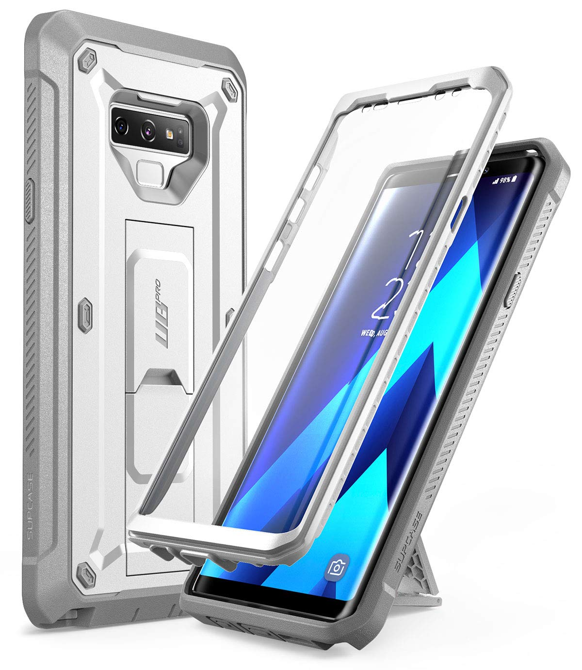 SUPCASE Full-Body Rugged Holster Case with Built-in Screen Protector /& Kickstand for Galaxy Note 9 Unicorn Beetle Pro Series Black 2018 Release Samsung Galaxy Note 9 Case