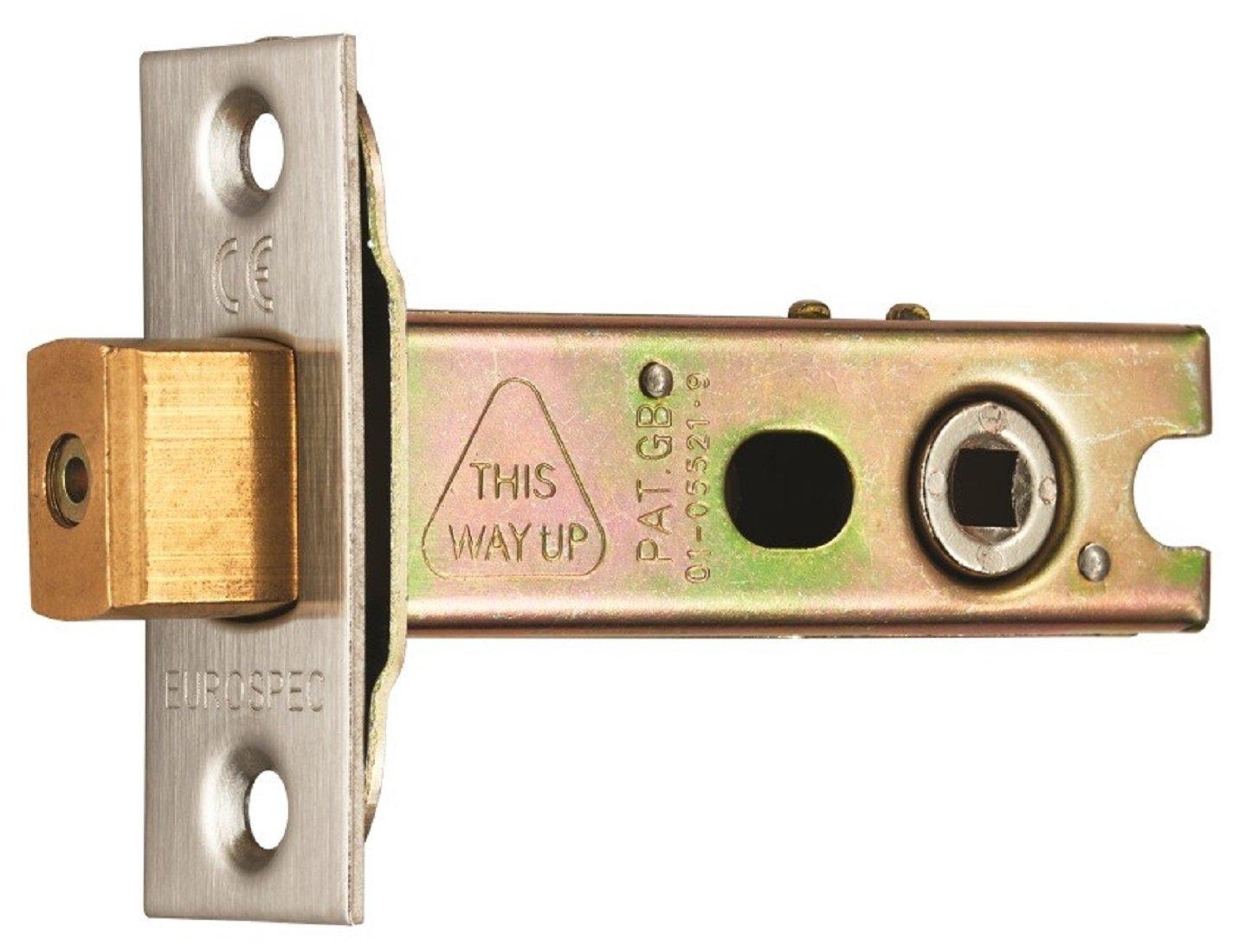 Heavy Duty Eurospec 2.5' (64mm) Tubular Bathroom Dead Bolt TLD5025EB/SSS Eurospec Carlisle Brass