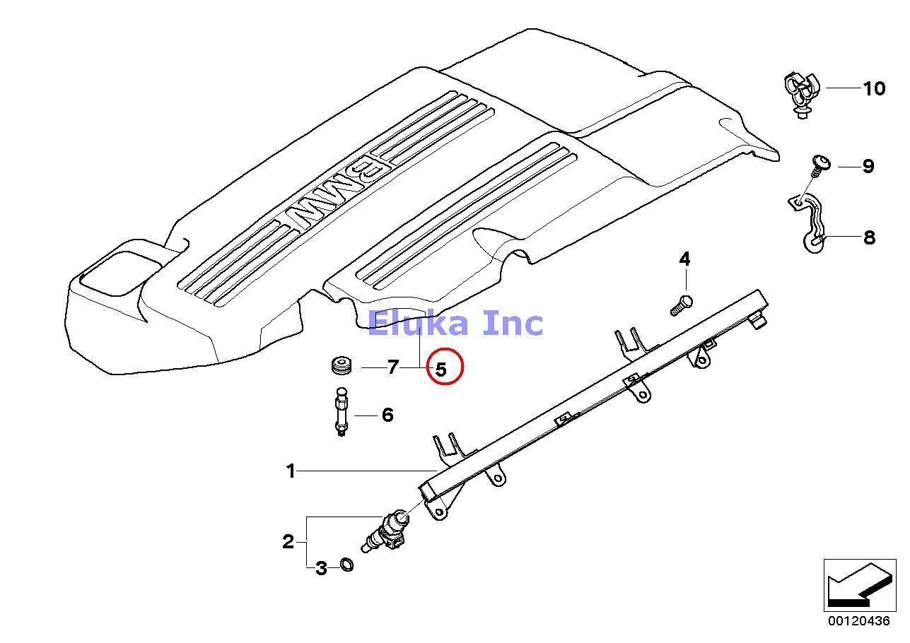 BMW Genuine FUEL INJECTION SYSTEM/INJECTION VALVE Cover 325Ci 325i