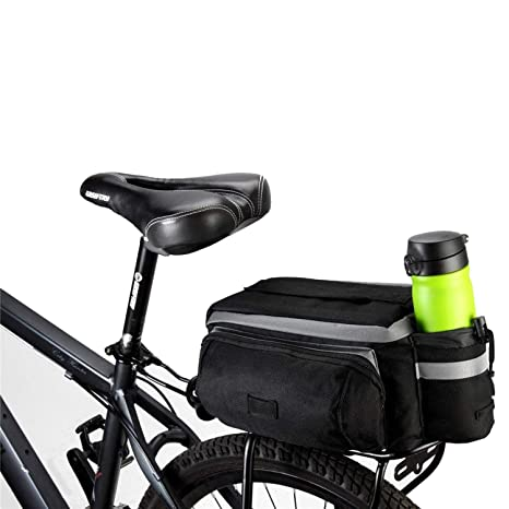 Roswheel New Bicycle Bags 13l Cycling Bike Pannier Rear Seat Bag Rack Trunk Shoulder Handbag Black With Rain Cover A Great Variety Of Models Sports & Entertainment
