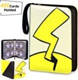 Trading Card Book Binder Holder Carrying Collectors Album Folder Compatible with Pokemon Cards-Holds Up to 400 Pockets…