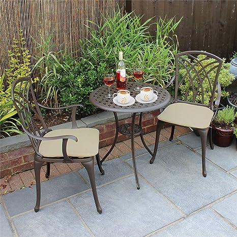 Newzeal Salon de Jardin 3 pièces Table Bistro et 2 fauteuils ...