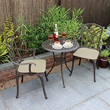 Yulie Ensemble Bistrot Salon de Jardin 2 Chaises et 1 Table ...