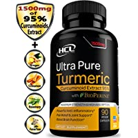 Turmeric Curcumin Supplement 19X Stronger -1500 mg of 95% Curcuminoids Extract Capsules - Pure Turmeric with BioPerine Ginger Cinnamon – Best Anti-Inflammatory Joint Support Antioxidant Powder Pills