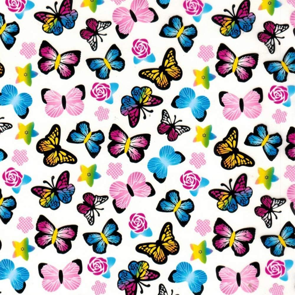 Hydrographics Film Water Transfer Printing Film Hydro Dipping Dip Film Hydrographic Film Hydro Dip Butterfly Garden Film Square Meter 19 X 78