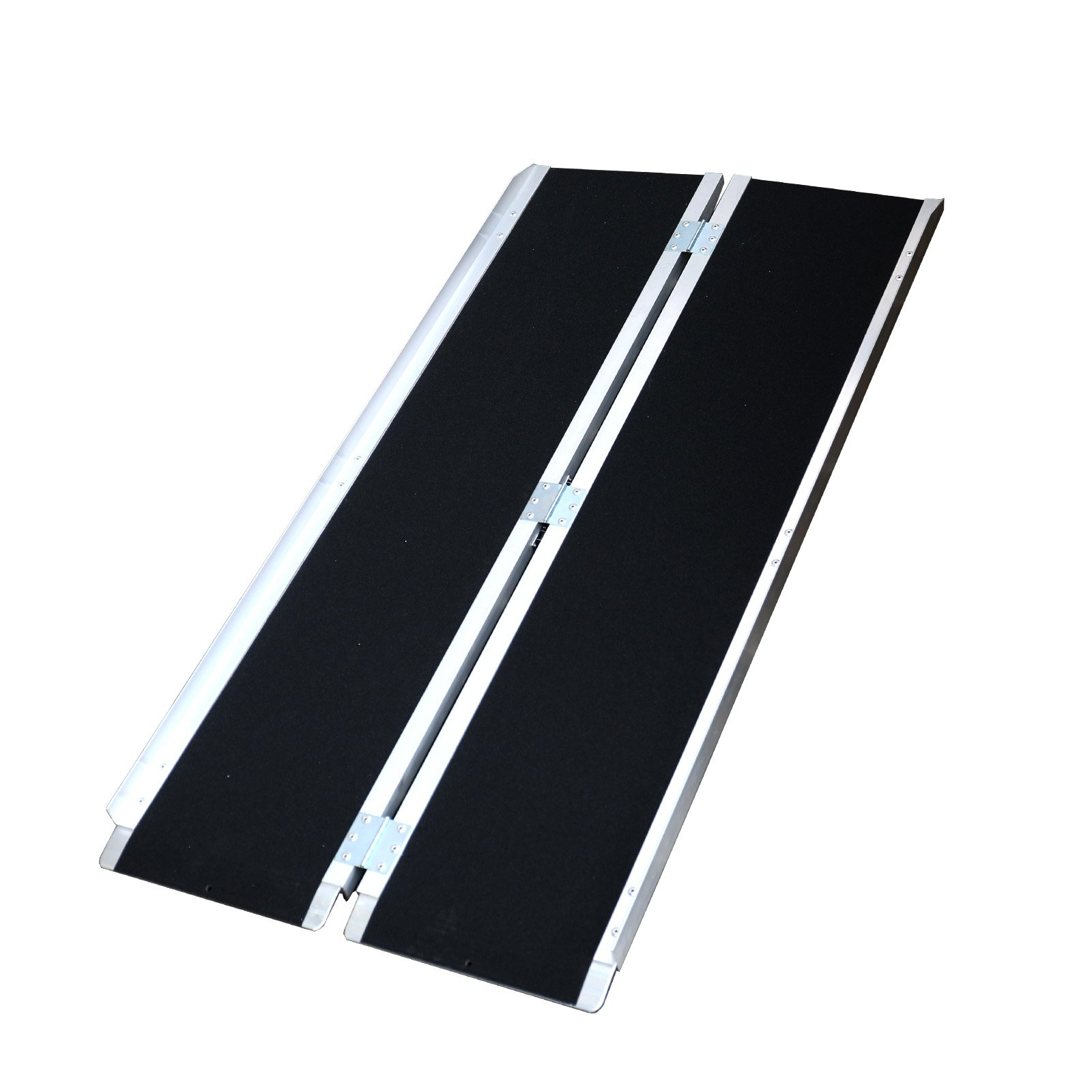 5ft (60''x29'') Aluminum Non-Slip Grip Tape Single-fold Folding Portable Mobility Loading Wheelchair Threshold Access Ramp Handicap Briefcase Scooters