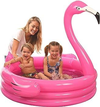 Pink Flamingo Inflatable Kiddie Pool