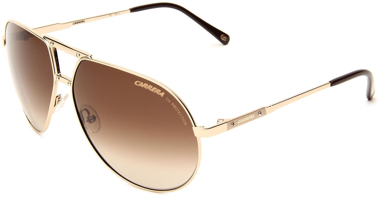a78b06616279 Carrera Men's Turbo Gold Frame/Brown Gradient Lens Metal Sunglasses, 62mm:  Amazon.co.uk: Clothing