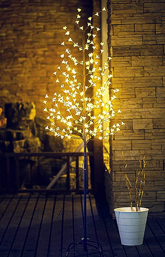 For Indoor And Outdoor Use Party Christmas Holiday Birthday Decorate Home Garden Lightshare 6ft 208l Led Lighted Cherry Blossom Tree Summer Wedding Warm White Home Kitchen Kolenik Home Décor