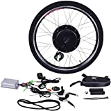 "Goplus 26"" Front Wheel or Rear Wheel E-Bike Conversion Kit Electric Bicycle Motor Kit Bicycle Accessories Set or w/ PAS System, 48V 1000W or 36V 500W"
