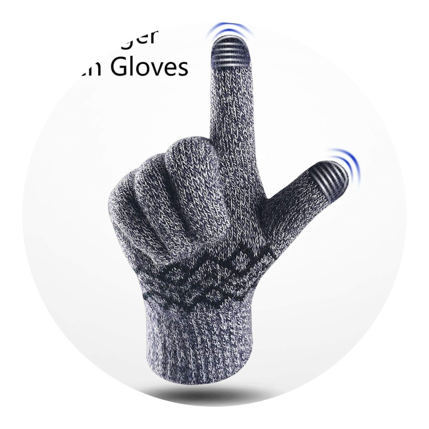 Glittering time 2018 Winter Gloves Knitting Mens Cashmere Thick Warmer Outdoor Touch Gloves