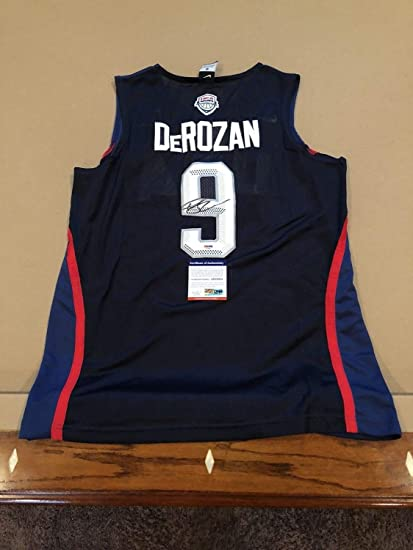 b9c53069321 Demar Derozan Autographed Signed Custom Usa Jersey San Antonio Spurs Raptors  with PSA/DNA COA