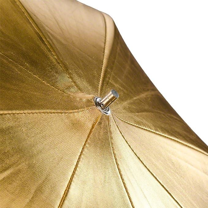 Walimex 2 In 1 109cm Reflex Umbrella Gold Silver Camera Photo