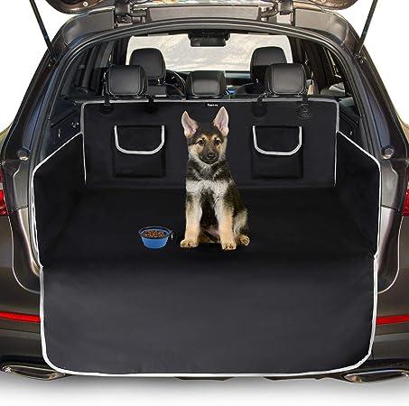 Toozey Kofferraumschutz Hund Mit Seitenschutz Universal Auto Kofferraum Hundedecke Robuste Schutzmatte Für Hunde Schwarz Haustier
