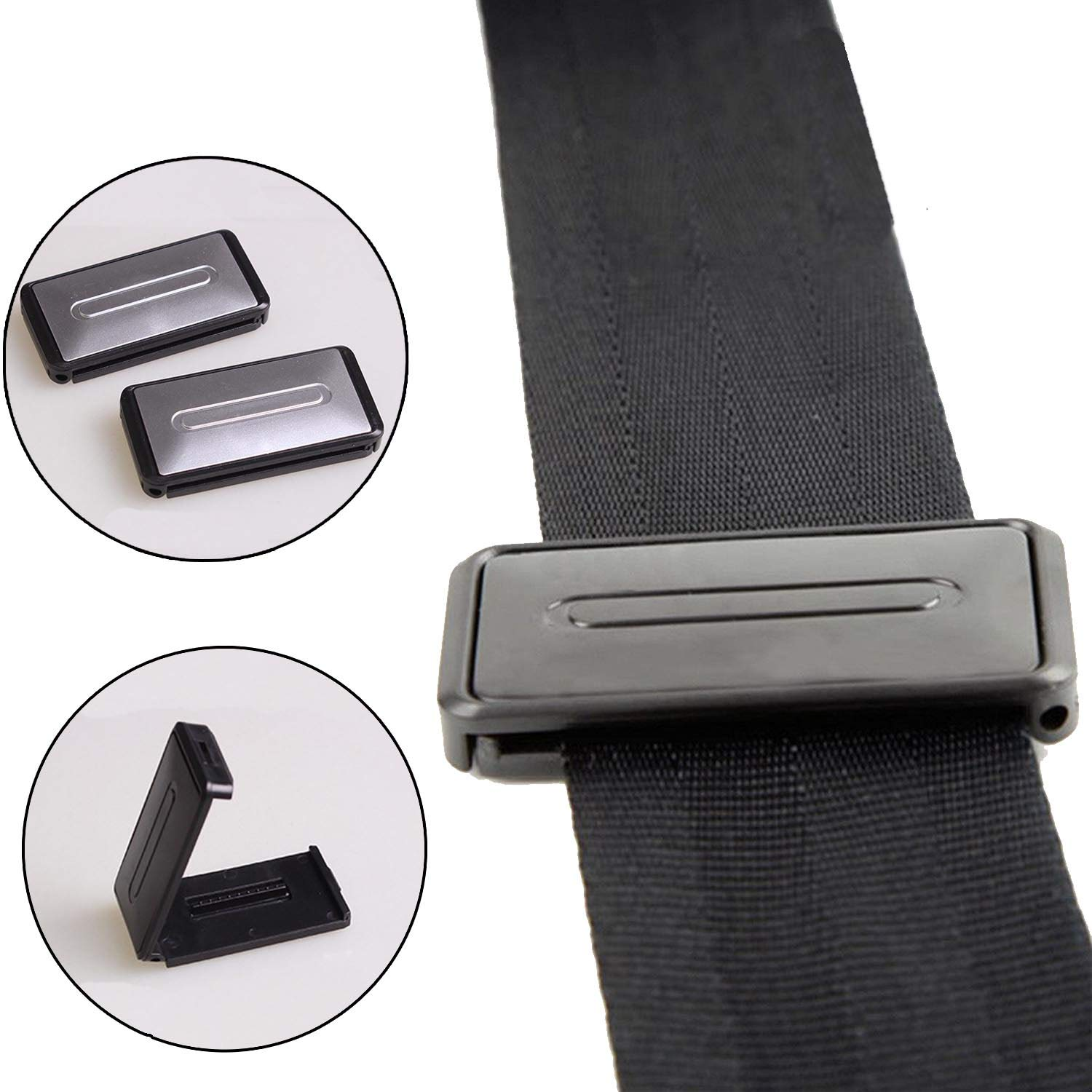 Safe Seatbelt Clips with Comfort Supports to Relax Shoulder and Neck for Any Car Seatbelt 4 PCS Car Seat Belt Adjuster