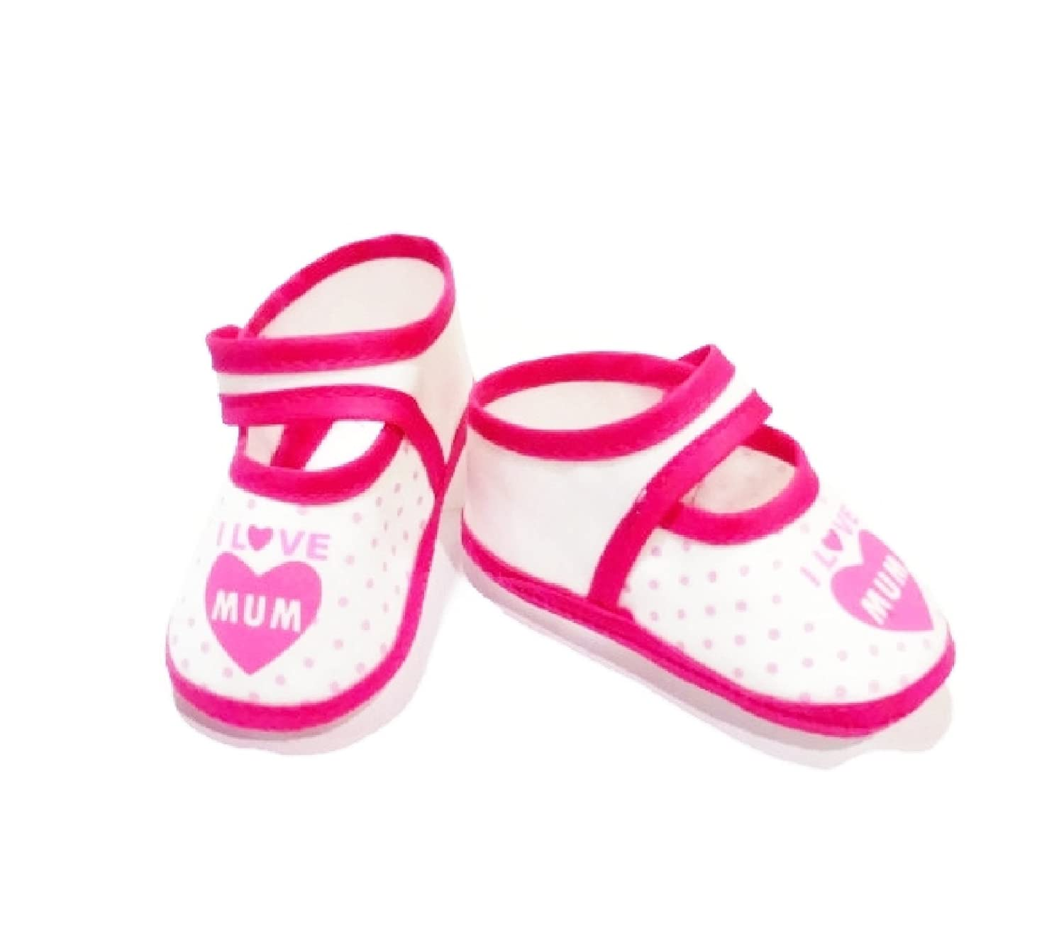 3.5length Polka Dot Booties for Baby Girl 0-4 Months
