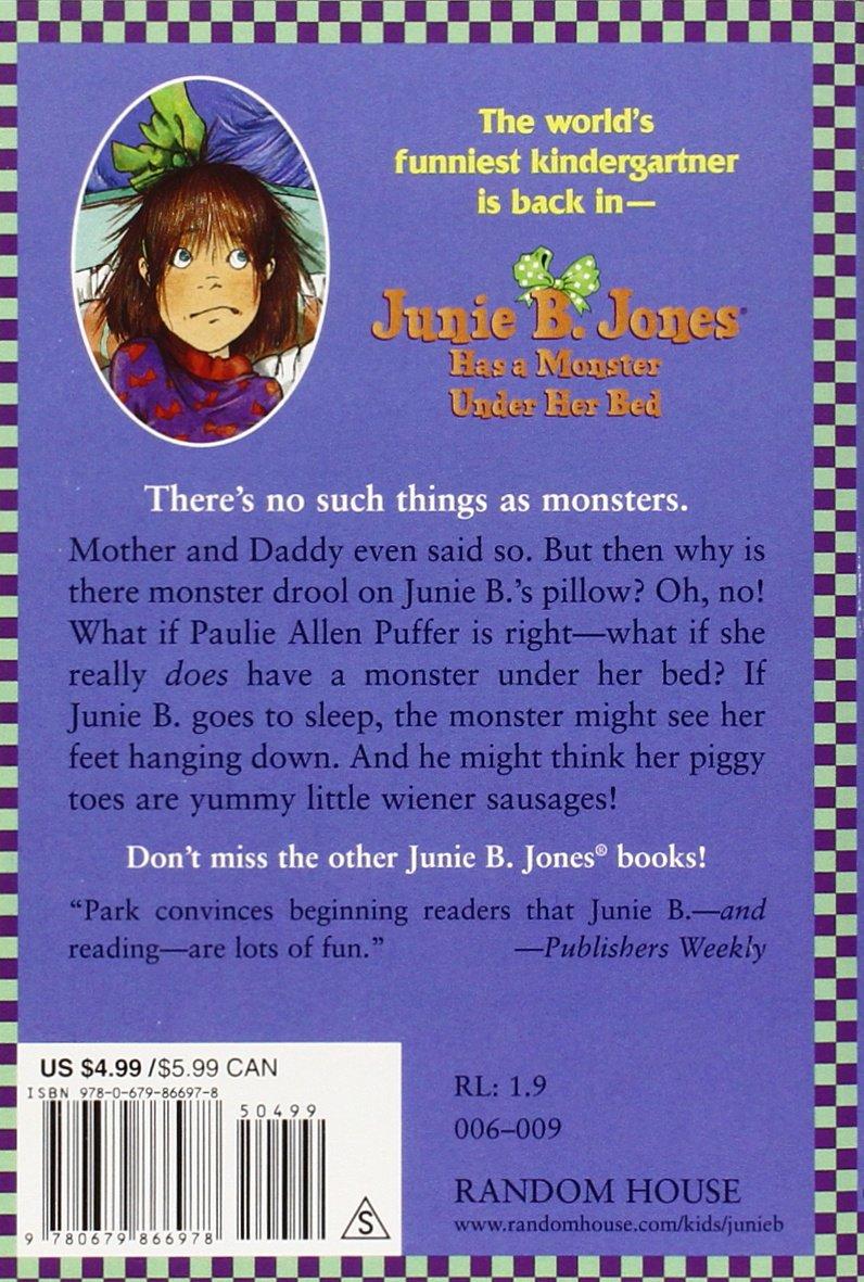 Junie b coloring pages - Amazon Com Junie B Jones Has A Monster Under Her Bed Junie B Jones No 8 9780679866978 Barbara Park Denise Brunkus Books