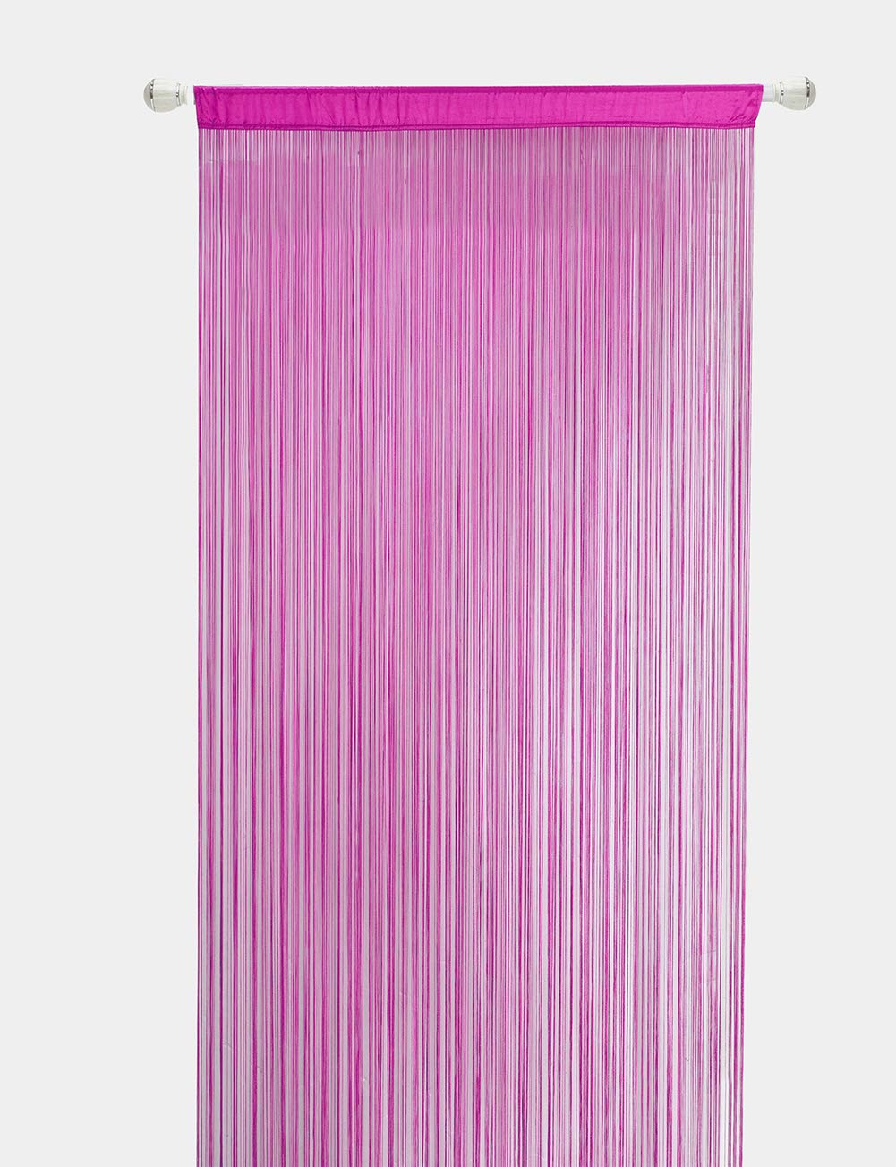 HSYLYM Fadenvorhang Schlafzimmertür, als Insektenvorhang Oder Raumteiler verwendbar, Polyester, Pink, 90x200cm