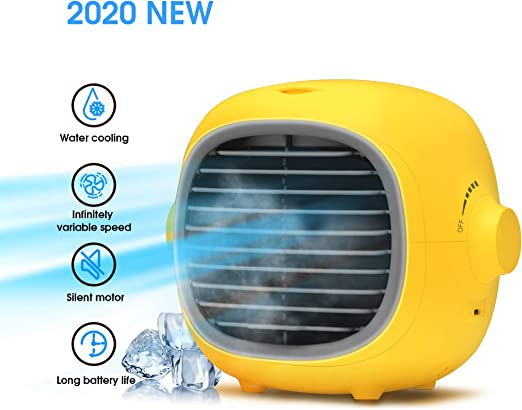 Amazon Com Neveika Water Cooling Fan Indoor Air Humidifier With 200ml Water Tank Usb Rechargeable Home Kitchen