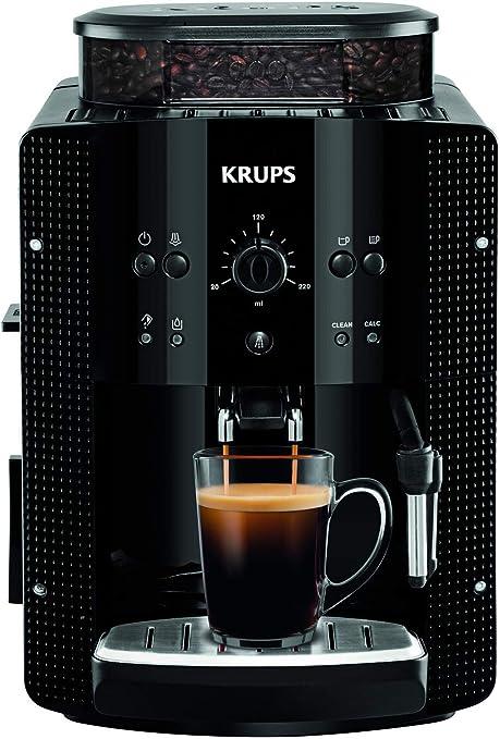 Oferta amazon: Krups EA8108 Roma - Cafetera Superautomática, 15 bares, molinillo de café cónico de metal, con selección de cantidad e intensidad de café, boquilla de vapor, 2 boquillas, incluye kit limpieza