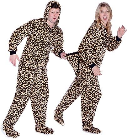 Navy Blue Plush Hoodie Footed Pyjamas Onesie for Mens /& Women