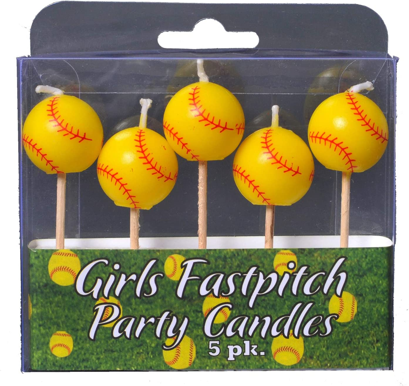 Girl/'s Sports Birthday Fastpitch Softball Party Tablecloth Table Cover