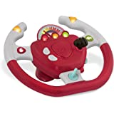 Battat – Geared to Steer Interactive Driving Wheel – Portable Pretend Play Toy Steering Wheel for Kids 2 years +, Red…
