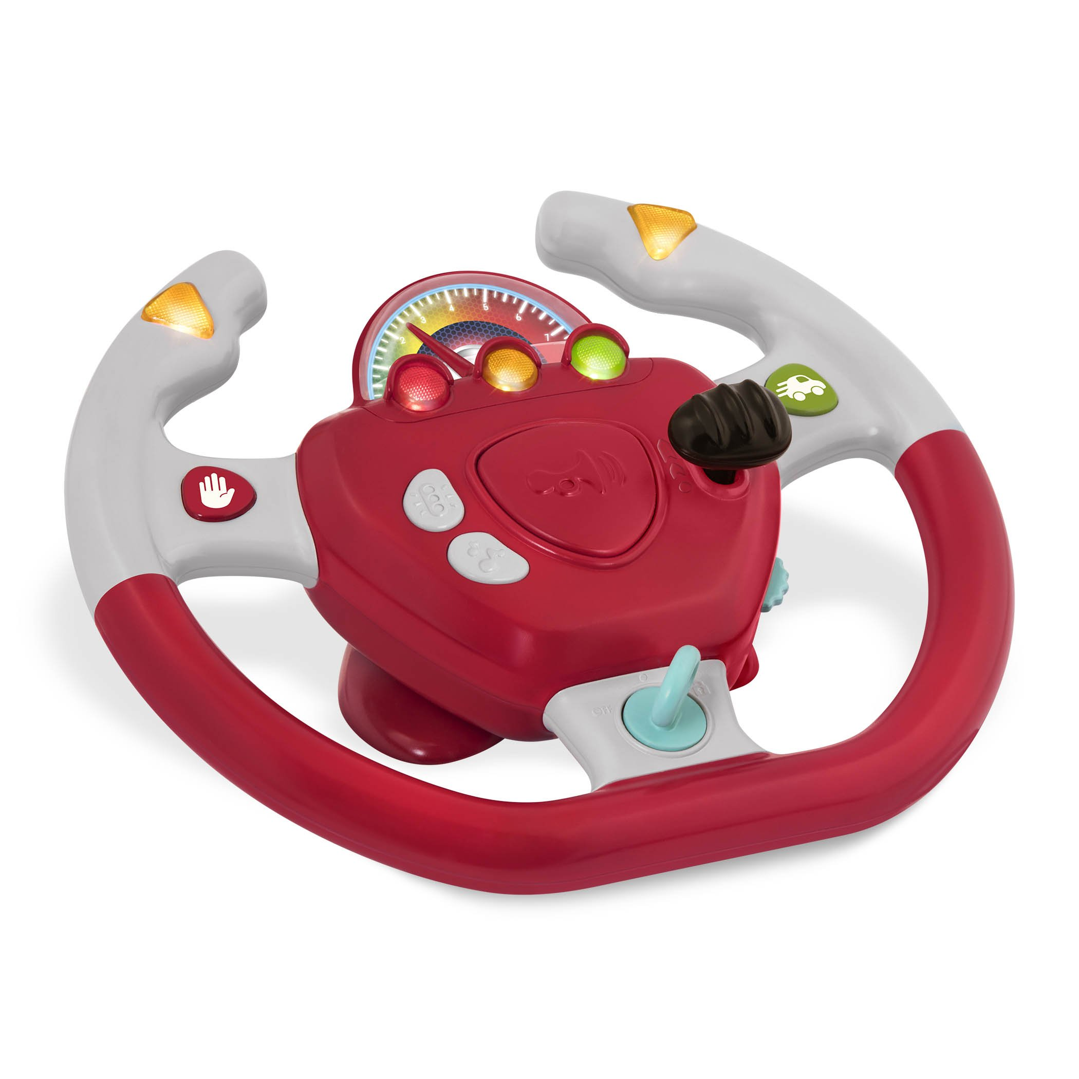 Battat - Geared to Steer Interactive Driving Wheel - Portable Pretend Play Toy Steering Wheel for Kids 2 years + by Battat (Image #2)