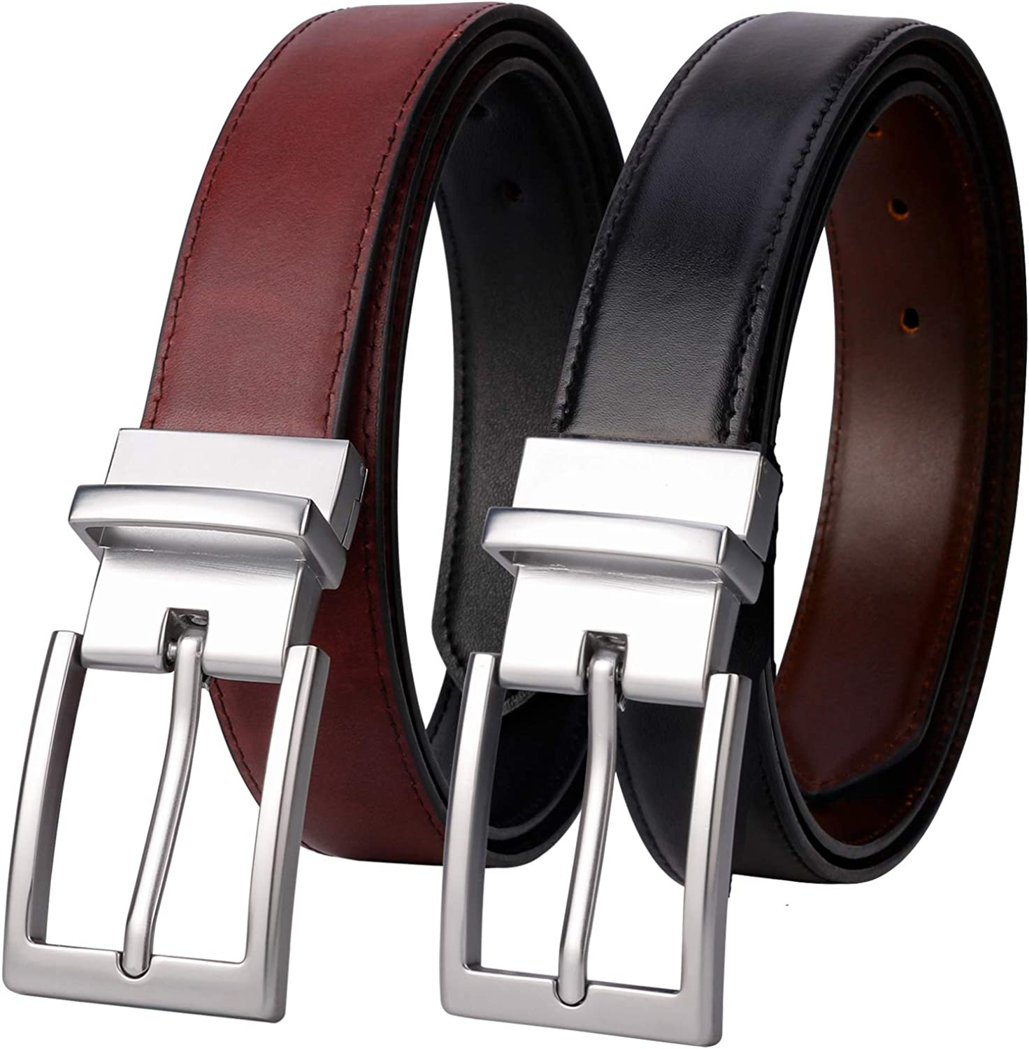 Lavemi Mens Belt Reversible 100% Italian Cow Leather Dress Casual Belts for  men, One Reverse for 2 Colors, Trim to Fit at Amazon Men's Clothing store