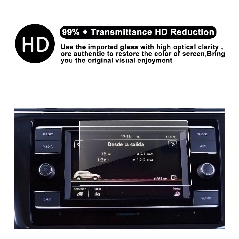 2018 Tiguan Touch Screen VW Car Display Navigation Screen Protector, RUIYA  HD Clear Tempered Glass Car in-Dash Screen Protective Film (6 5-Inch)