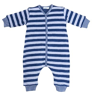 a5d7b8228b9ca4 Cotton People organic Unisex - Baby Schlafanzug (Einteiler), gestreift  Overall ohne Fuß aus