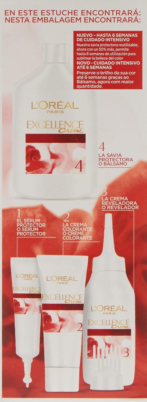 LÓreal Excellence Creme #5,5 Coloración, Color Castaño Claro Caoba - 300 gr: Amazon.es: Belleza