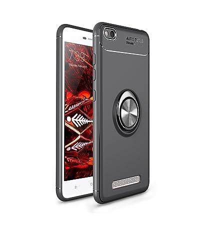 Anfire Funda Xiaomi Redmi 4A, Carcasa Anillo de Soporte Rotación de 360 Grados Suave Silicona Gel TPU Case Función Magnética Soft Cover para Xiaomi ...