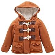 LZH Boys Girls Winter Coat Fleece Jacket with Hooded for Baby Toddler