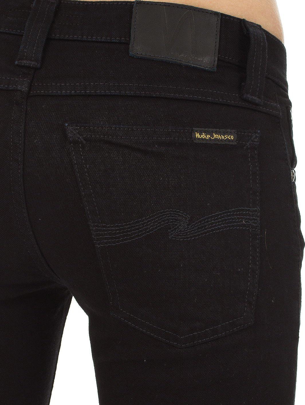 Nudie Jean Womens Tight Long John Jean in Black Black Nudie Jeans 111199 ec0c486c6