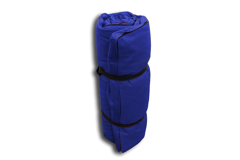 Futon Portatile Blu, 200x140x4 cm Futon On Line 0809003